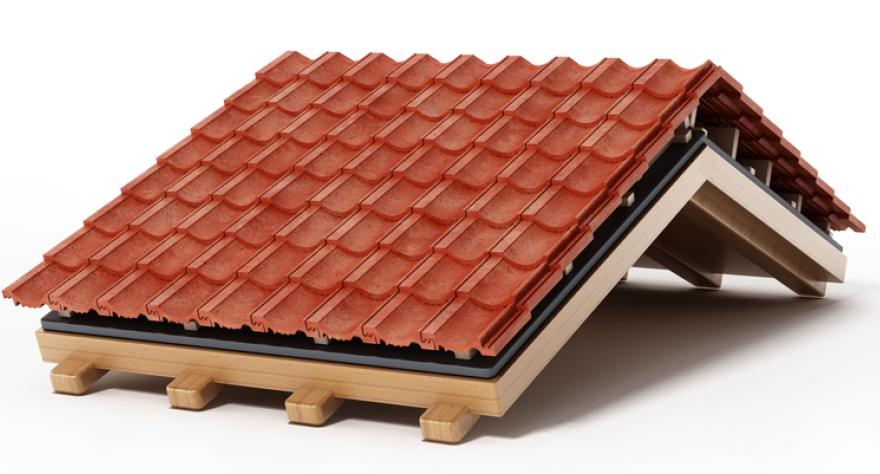 Макет крыши (черепица)