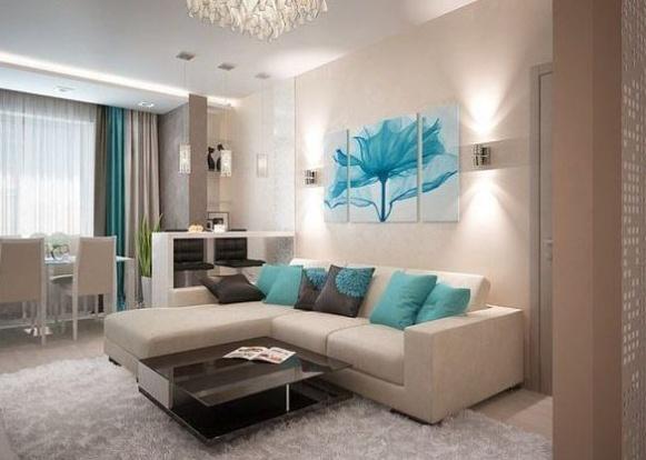 Картина за диваном